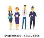 business characters   colored... | Shutterstock .eps vector #646175545