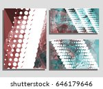 low poly mosaic background set. ... | Shutterstock .eps vector #646179646