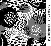 seamless brushpen doodle... | Shutterstock .eps vector #646185148