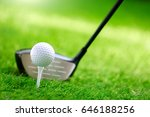 shot of golf ball with golf club | Shutterstock . vector #646188256
