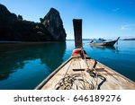old wood boat thailand boat of... | Shutterstock . vector #646189276