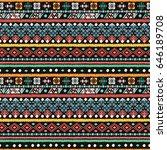 ethnic seamless pattern. boho... | Shutterstock . vector #646189708