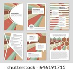 abstract vector layout... | Shutterstock .eps vector #646191715