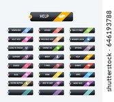 black colors website buttons... | Shutterstock .eps vector #646193788