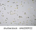 Confetti floating on isolated...