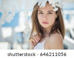 beautiful woman | Shutterstock . vector #646211056