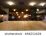 image of wood table in front of ... | Shutterstock . vector #646211626