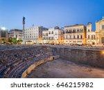 historic city center of lecce... | Shutterstock . vector #646215982