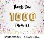 1000 followers thank you gold... | Shutterstock . vector #646218562