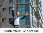 cheerful business man... | Shutterstock . vector #646226536