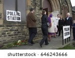 white and asian voters entering ... | Shutterstock . vector #646243666