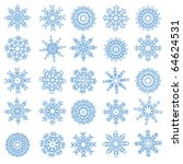 snowflakes | Shutterstock .eps vector #64624531