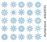snowflakes | Shutterstock .eps vector #64624531