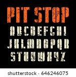 decorative stencil plate... | Shutterstock .eps vector #646246075