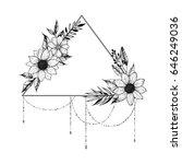 hand drawn vector illustration  ... | Shutterstock .eps vector #646249036