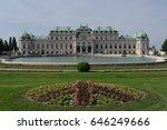 upper belvedere   large pond ... | Shutterstock . vector #646249666