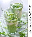 Refreshing, healthy vegetable juice cocktails. - stock photo