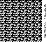 seamless patterns  black and... | Shutterstock .eps vector #646263955