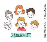 cute vector illustration draw... | Shutterstock .eps vector #646265986