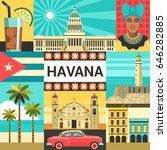havana creative poster concept. ...   Shutterstock .eps vector #646282885