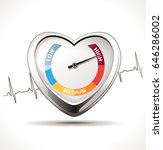 hypertension concept   healthy... | Shutterstock .eps vector #646286002