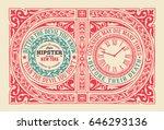 vintage label. baroque ornaments | Shutterstock .eps vector #646293136