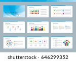 elements of infographics for... | Shutterstock .eps vector #646299352
