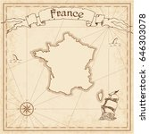 france old treasure map. sepia... | Shutterstock .eps vector #646303078