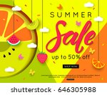 summer sale with different... | Shutterstock .eps vector #646305988