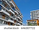 modern apartment buildings... | Shutterstock . vector #646307722