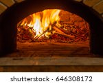 fire and burn coals in stone... | Shutterstock . vector #646308172