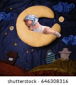 studio portrait of infant baby... | Shutterstock . vector #646308316