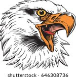 mascot eagle  screaming  which... | Shutterstock .eps vector #646308736