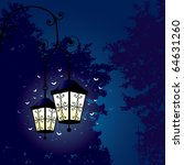 Two Lanterns And Flying Moths...