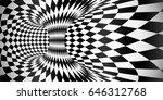 vector rhombus pattern surface... | Shutterstock .eps vector #646312768