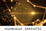bitcoins  new virtual money on... | Shutterstock . vector #646316752