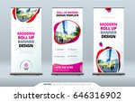 business roll up banner stand....   Shutterstock .eps vector #646316902