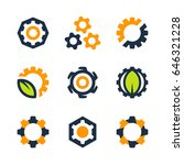 vector gear wheel icons and... | Shutterstock .eps vector #646321228