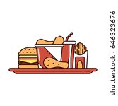 illustration of a sandwich ... | Shutterstock . vector #646323676