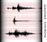 different seismograms on a... | Shutterstock .eps vector #646325695