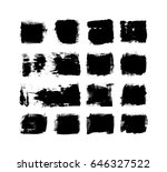 vector ink and paint textures... | Shutterstock .eps vector #646327522
