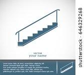 staircase vector icon | Shutterstock .eps vector #646329268