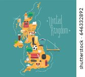 map of united kingdom  great... | Shutterstock .eps vector #646332892
