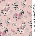 seamless floral pattern in... | Shutterstock .eps vector #646333306