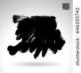 black brush stroke. grunge... | Shutterstock .eps vector #646335742