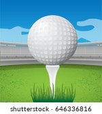 golf ball | Shutterstock .eps vector #646336816