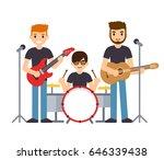 rock group or pop music boys...   Shutterstock .eps vector #646339438