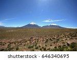 licancabur  chile  deserto do... | Shutterstock . vector #646340695