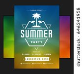 retro summer party design... | Shutterstock .eps vector #646341958