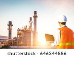 service engineer working with... | Shutterstock . vector #646344886